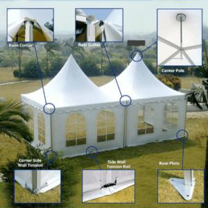 pagoda tent hire
