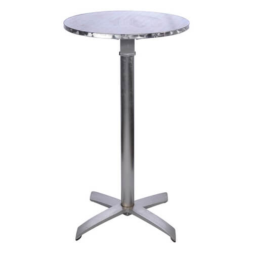 metal bar table for hire in sydney