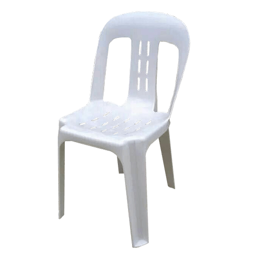 white slotted function bistro chair without arms