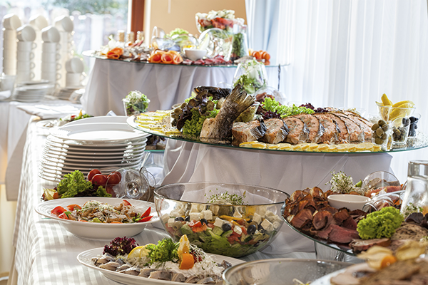 Wedding buffet tables