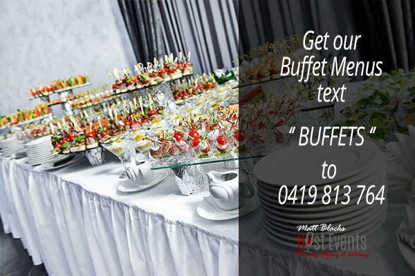 wedding buffets canapes