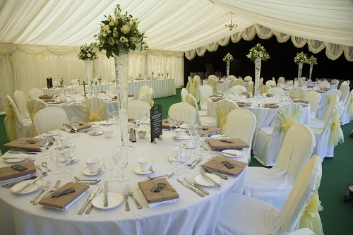 Wedding Marquee Decorated