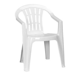 white slotted chair