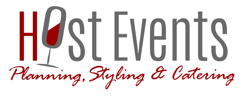 Host Events & Weddings Planning Events, Styling Weddings and Gourmet Catering Logo