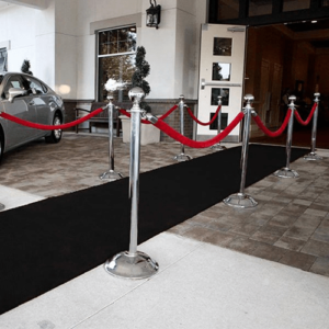 black carpet runner hire